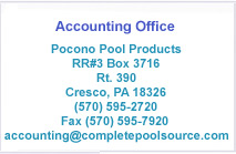 Pocono Pools Accounting Address